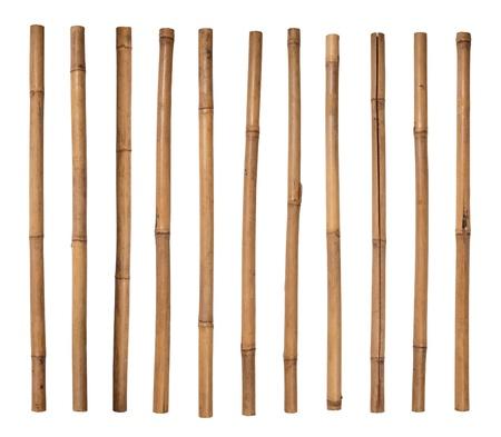 bamboo stick: Bamboo sticks isolated on white