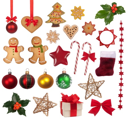gingerbread man: Christmas decoration collection  Stock Photo