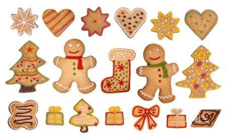 Christmas gingerbread cookies  photo