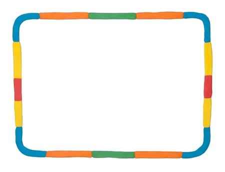 Plasticine frame isolated on white background