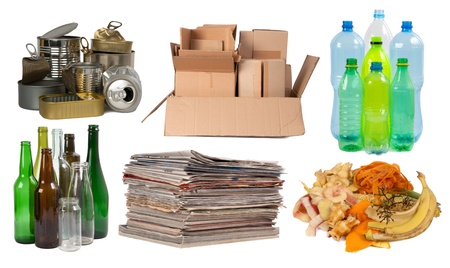 recycling paper: Garbage that can be recycled  Stock Photo