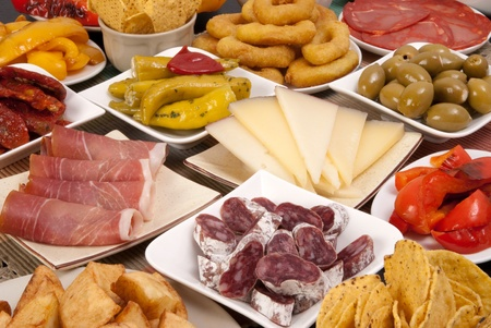 spanish tapas: Various Spanish tapas