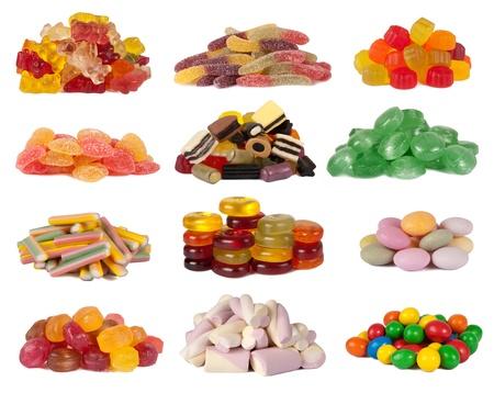 gelatina: Caramelos aislados en blanco