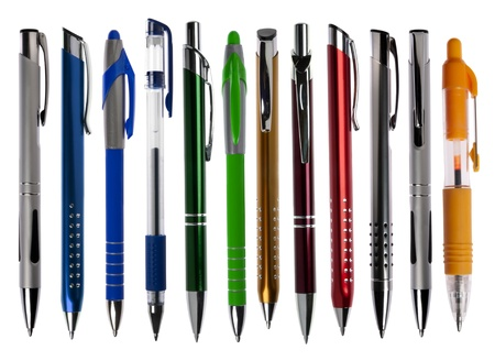 Pens collection isolated on white  Stock Photo - 15320184