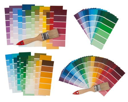 swatches: Color swatches isolated on white background  Stock Photo