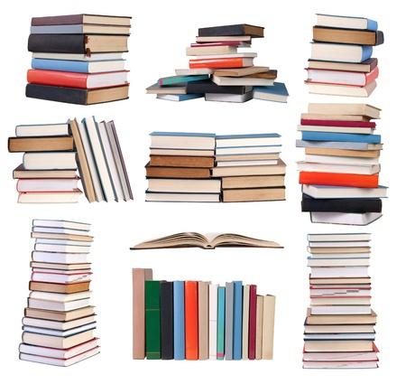 Books isolated on white background