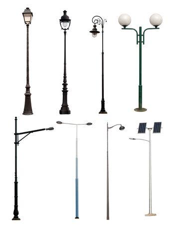 Lamp Beiträge auf weißem Hintergrund Standard-Bild - 21151648