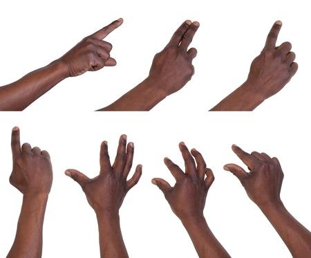 dedo: Gestos Multi-Touch para tabletas o tel�fonos inteligentes Foto de archivo