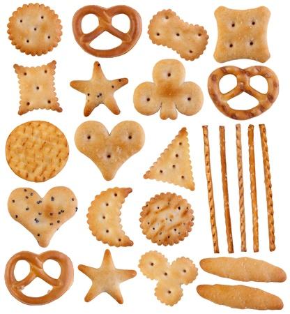 pretzels: Crackers isolated on white background  Stock Photo