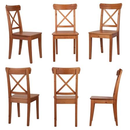 의자는 흰색 배경에 고립
