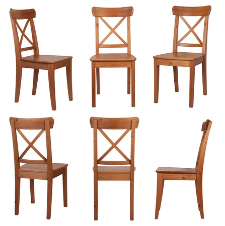 silla de madera: Presidente aislado en fondo blanco