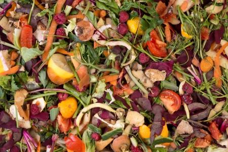 basura organica: La pila de compostaje de residuos naturales