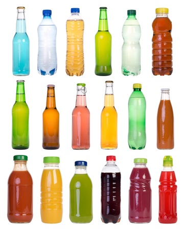 soft object: Drinks in bottles Stock Photo