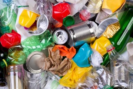 Afval dat kan worden hergebruikt Stockfoto - 22136099