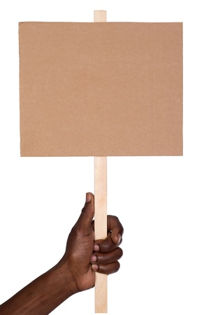cardboards: Protest sign