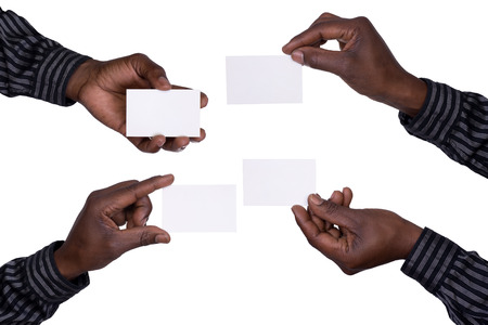 Hands holding cards Stock Photo - 23120045