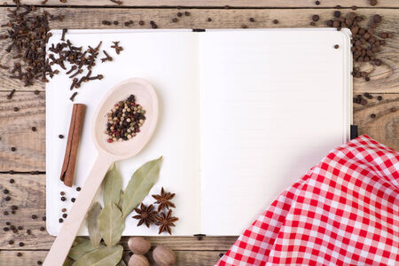 cookery: Open cookery book  Stock Photo
