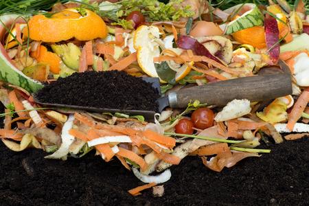 Compost with composted soil Archivio Fotografico