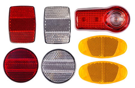 reflectors: Bicycle reflectors isolated on white background