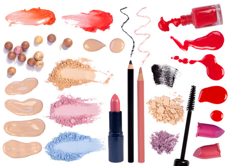 Make up products isolated on white background  photo