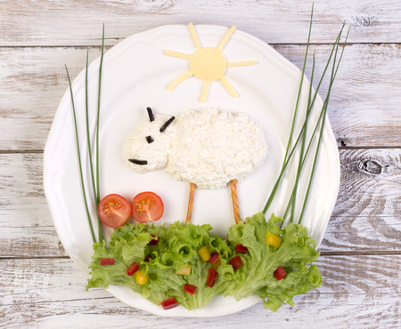 Cottage cheese served for a kid