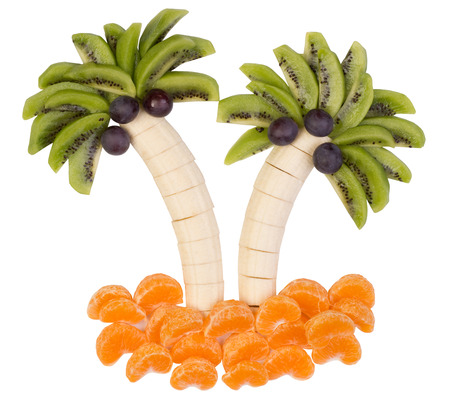 funny fruit: Fruits served in a funny way Stock Photo
