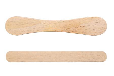 wooden stick: Wooden ice-cream sticks isolated on white background