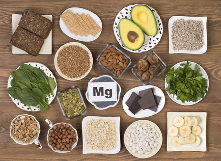 magnesium: Food containing magnesium Stock Photo
