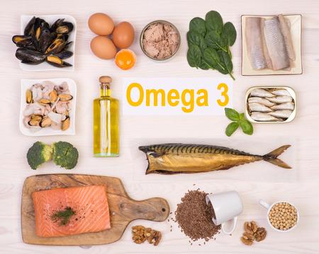 오메가 3 지방산이 풍부한 음식 스톡 콘텐츠