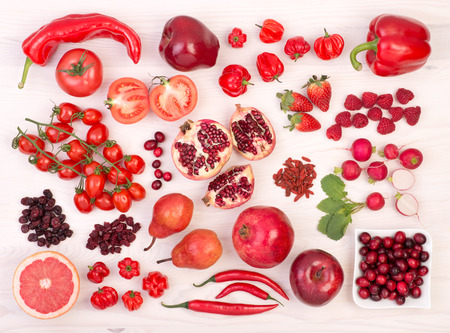 Red fruit and vegetables