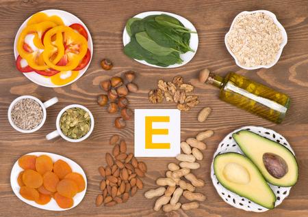 Vitamine E bevattende voedingsmiddelen Stockfoto - 53937674