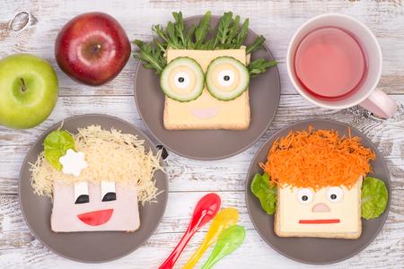 子供のための面白いサンドイッチ