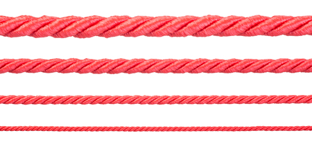 Red strings isolated on white background