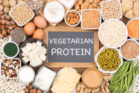 Protein in vegetarian diet. Food sources of vegetarian protein