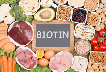 Biotin food sources, top view