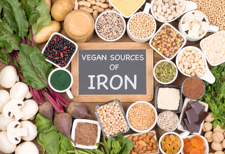 Iron in vegan diet. Food sources of vegan iron