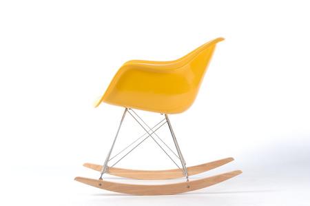 yellow rocking chair photo