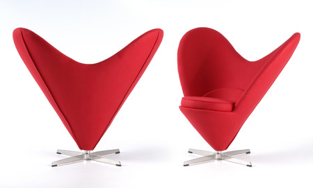 love seat: love heart seat Stock Photo