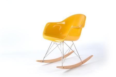 modern yellow rocking chair Stok Fotoğraf