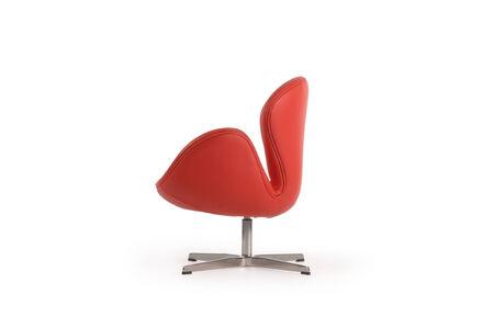 xx century: side view danish swan armchair