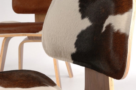 detail of a modern plywood chair Imagens