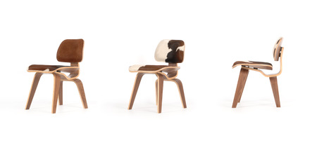 furniture design: 3 eames plywood chairs Stock Photo