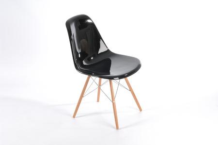 fiberglass: black modern chair fiberglass