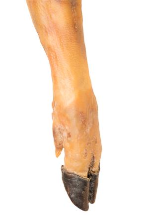 détail de la jambe de jambon. Jambon Serrano Banque d'images