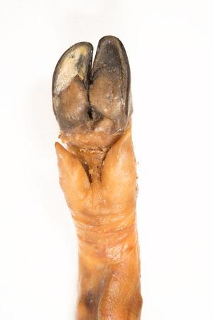 detail of cured ham leg. Serrano ham Banco de Imagens