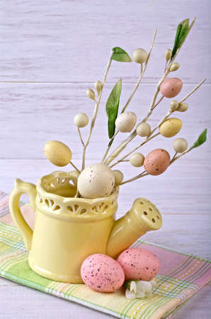 Easter ornaments on a light background,decoration