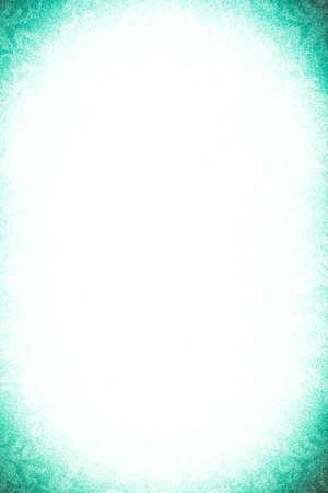 vignette: Blank white paper and green vignette border Stock Photo