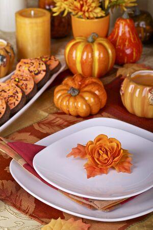 Thanksgiving table setting photo