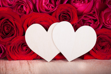 two hearts: Roses and two hearts