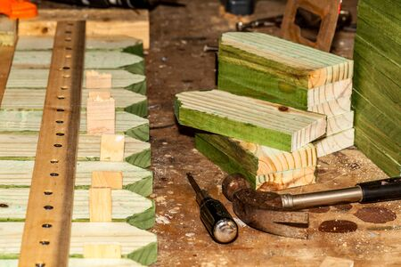 Impregnated wooden panels , carpentry wood product